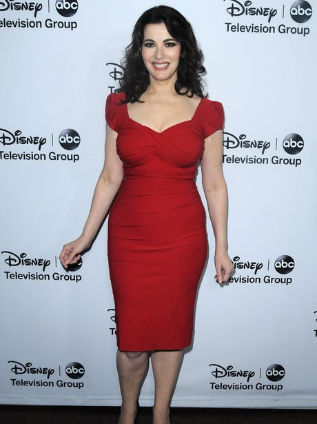 nigella lawson in red dress