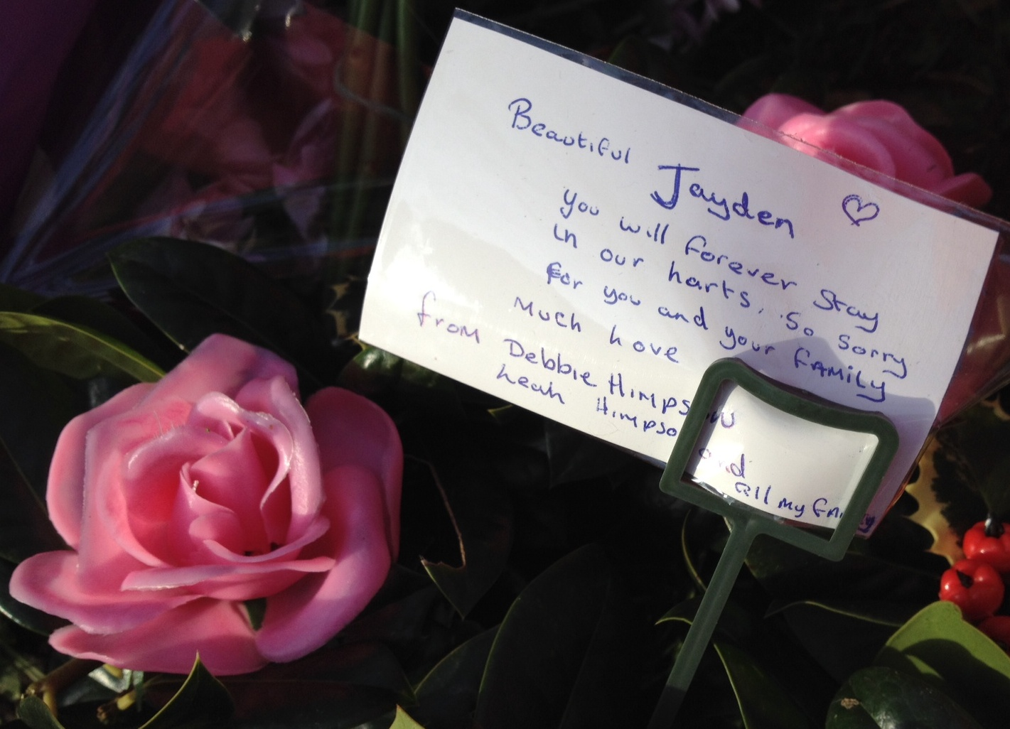 Tributes to Jayden Parkinson