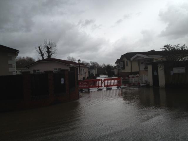 flood Iford Bridge Home Park Bournemouth