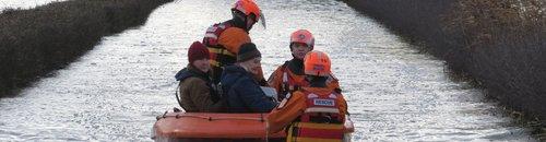 BARB rescue pensioner in Muchelney