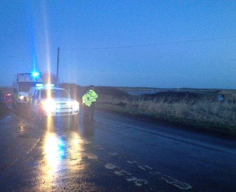 Cley Helicopter Crash Police Cordon
