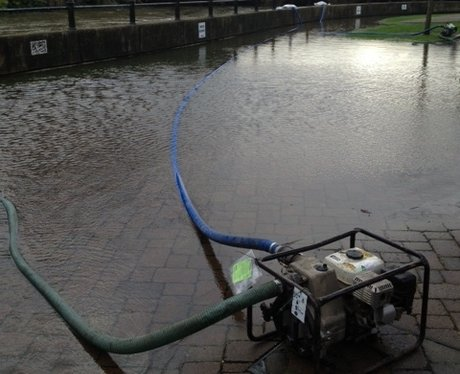 The Environment Agency are pumping water away
