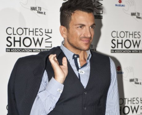 Peter Andre in suit on red carpet