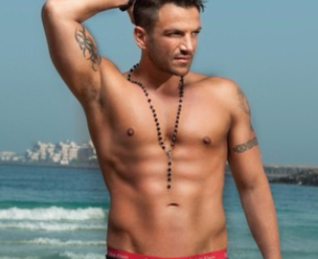 Peter Andre by the sea