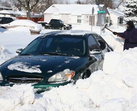 A car stuck in snow