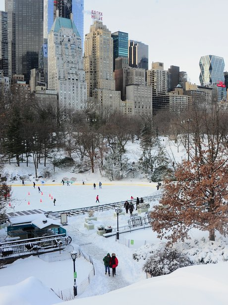 An Ice rink in New York