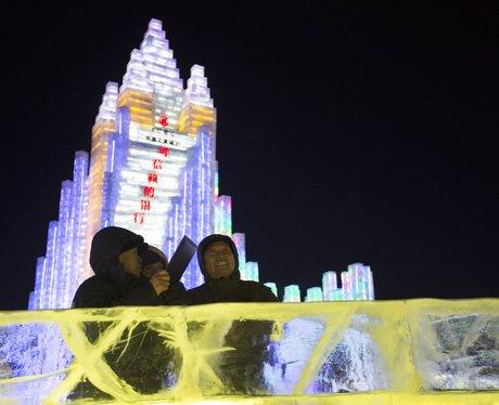 An ice sculpture city