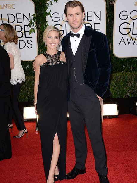 Chris Hemsworth and Elsa Pataky in black