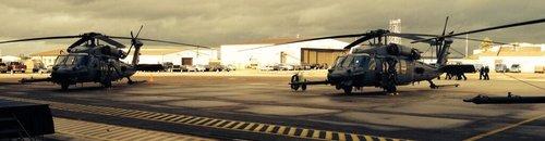 Helicopters at RAF Lakenheath Memorial