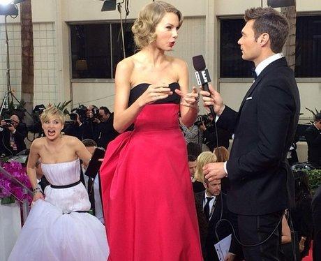 Jennifer Lawrence photobombs Taylor Swift