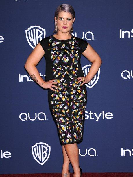 Kelly Osbourne at the Golden Globe Awards aftersho