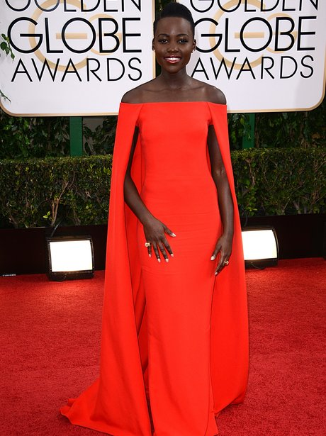 Lupita Nyong'o  at the Golden Globe Awards 2014