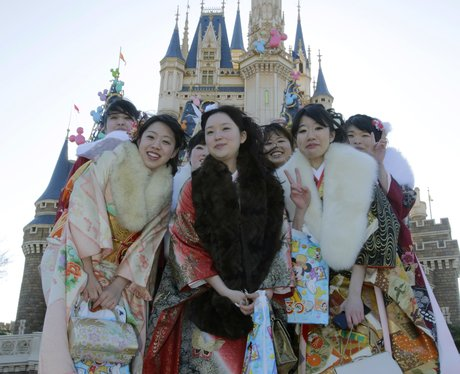 Japanese women in traditional dress