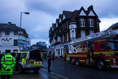 Winchester Jewry Street flat fire