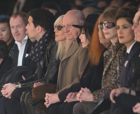 anna wintour and salma hayek on the front row