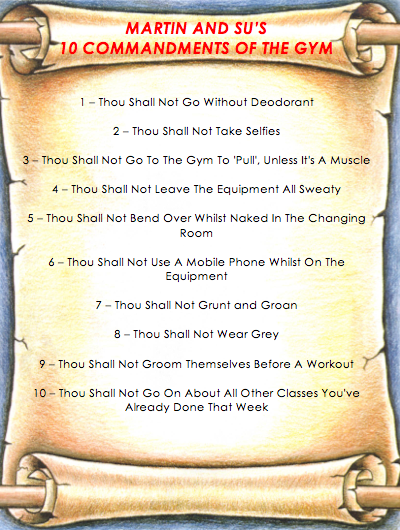 Commandments Of The Gym