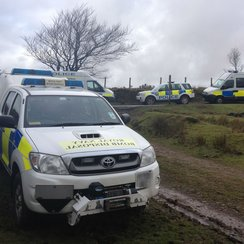 Police response to bomb found on Exmoor