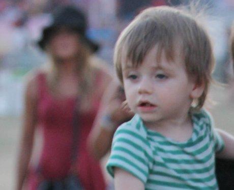 Alicia Silverstone with husband and son Bear Blu at Coachella
