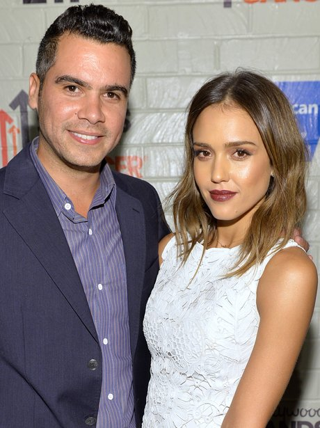 cash warren and jessica alba on the red carpet