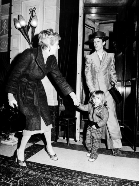 David Bowie with wife Angela and son Zowie