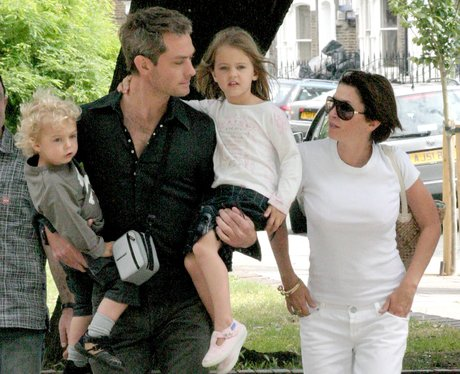 Jude Law and Sadie Frost with family after divorce