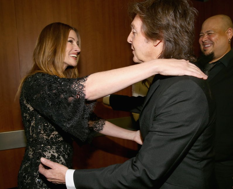 Julia Roberts And Paul McCartney Are Delighted To See Each Other