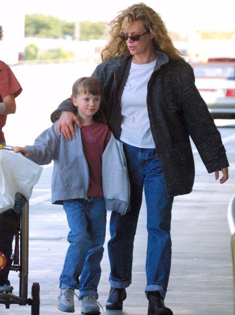 Kim Basinger and daughter Ireland at LAX airport