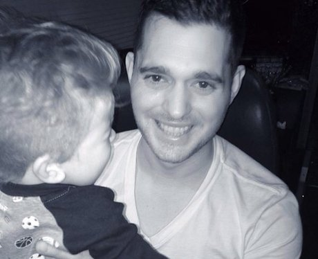 michael buble carrying son noah