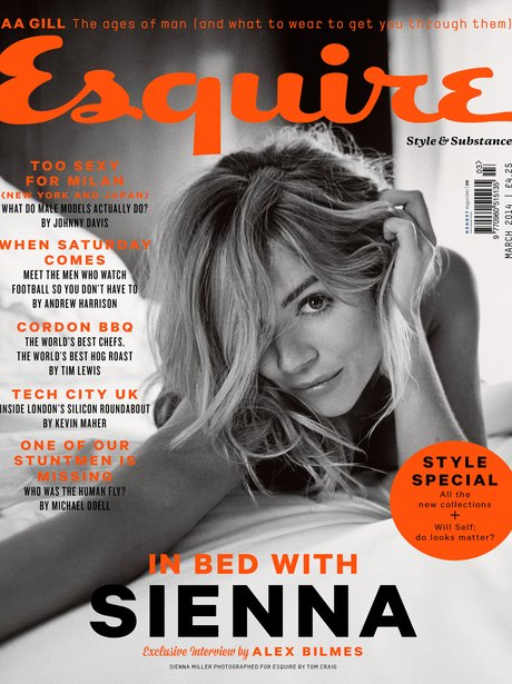 Sienna Miller on the cover of Esquire Magazine