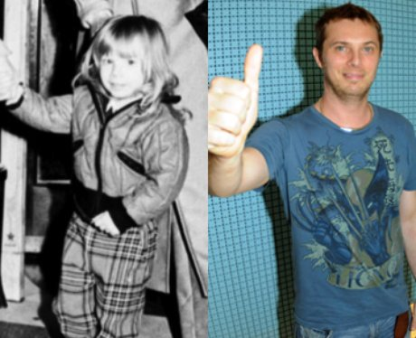 David Bowie's son Zowie as a child and adult