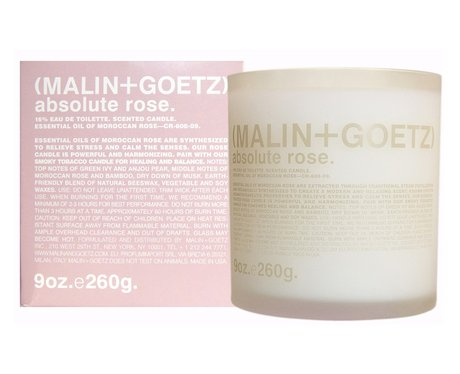 Malin+Goetz Absolute Rose Candle