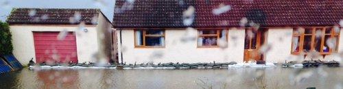 Somerset floods 2014 farm at Northmoor
