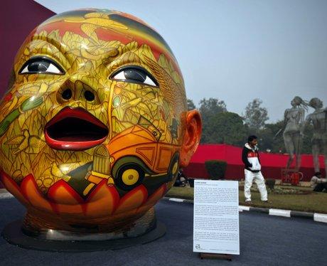 giant sculpture of head
