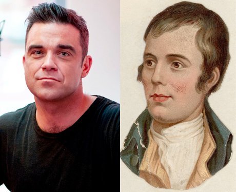 Robbie Williams/ Robert Bruns Split Picture