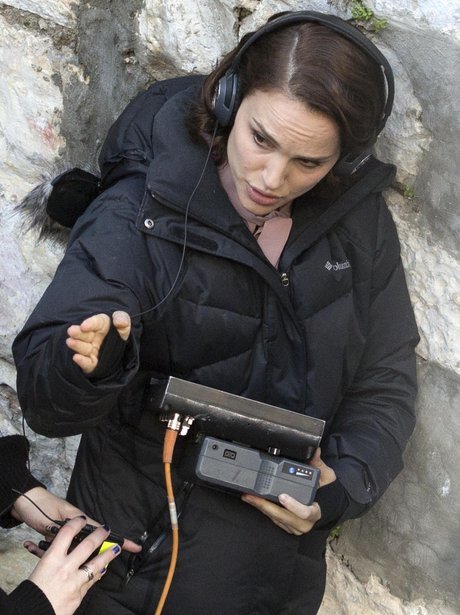 Natalie Portman on set directing