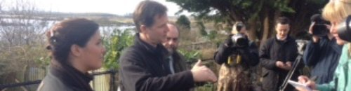 Nick Clegg in Somerset during floods