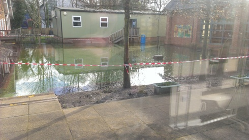 St Bede School Winchester flooding