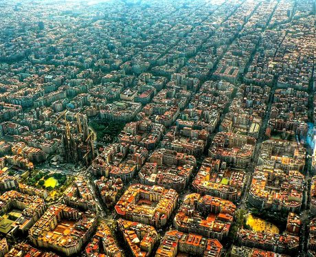 arial view of barcelona