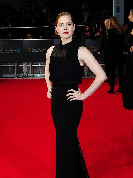 Amy Adams in V. Beckham on BAFTAs red carpet 2014