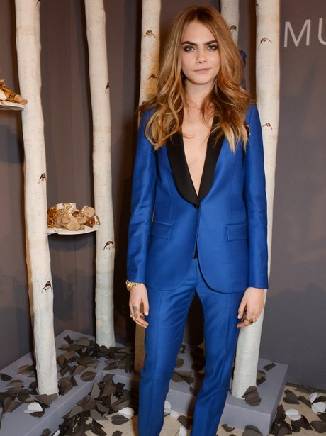 Cara Delevingne  attends launch for own collection