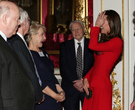 Helen Mirren and Kate Middleton Laughing