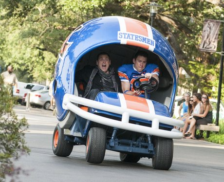 Jonah Hill and Channing Tatum in a go kart
