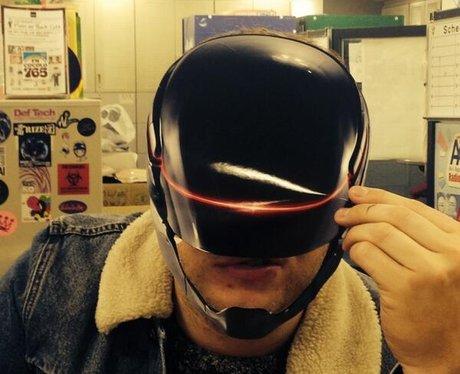 olly murs wearing helmet