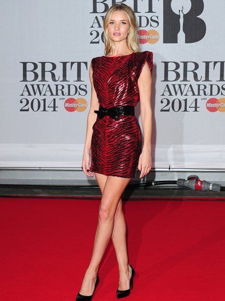 Rosie Huntington-Whiteley at the Brit Awards 2014