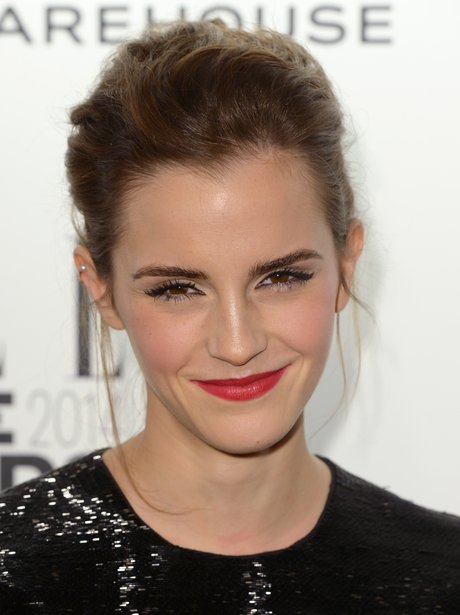 Emma Watson in red lipstick