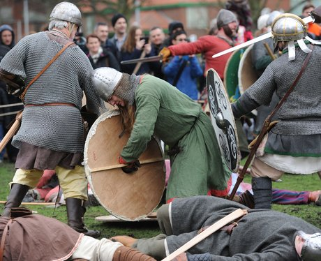 Viking battle re-enactment
