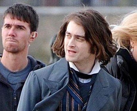 Daniel Radcliffe on set