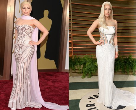Lady Gaga at The Oscars and The Oscars After Party