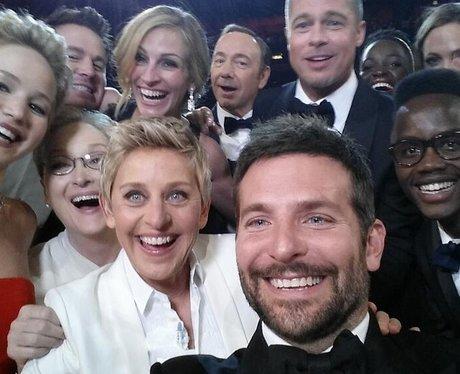 Ellen DeGeneres celebrity selfie at the Oscars