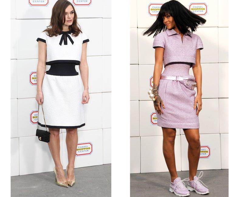 Kiera Knightly and Rihanna wearing Chanel